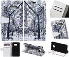 Snow day Luxury Flip wallet card leather case f Nokia series N535 N640 N930 532