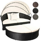 Rattan Daybed Sun Canopy Lounger Garden Furniture Set Patio Terrace Day Bed Sofa