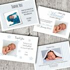Personalised PHOTO Thank You Cards  ~ Announcement/Christening ~ New Baby Boy D3