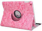 360°Rotating Embossed Flowers Leather Cover Case For ipad 2/3/4/5/Air ipad mini