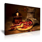 FOOD & DRINK Spice Pepper Canvas Framed Printed Wall Art 57 ~ More Size