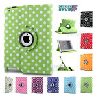 360 Rotating PU Leather Case Cover Stand for APPLE iPad 2 3 4 mini