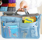 Colorful Gray Handbag Women Travel Insert Organiser Purse Makeup Bag Fashion New