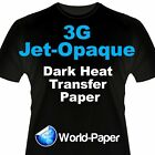 3G Jet Opaque Heat Transfer Paper 11x17 25 Sheets Transfer Paper, Inkjet Printer