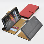 For Sony Xperia Z L36H Genuine Leather Wallet Case Card Holder Flip Cover