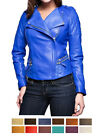Women Sexy Leather Designer Jacket Sz XS-3XL 12 Colors