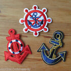 1 - Iron on Patch - Anchor- Maritime - Teens/Kids -  Sewing - Applique - Cards