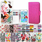 Wallet Leather Eztec Flowers Cover Case Book For Apple IPhone 4 4S / 5 5S / 5C
