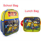 Despicable Me 2 Minion Minions Rucksack Backpack School Insulated Bag Lunch Box