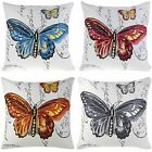 """Monica Butterfly Stamps 18"""" x 18"""" Cushion Covers Or Complete One Pair (2)"""