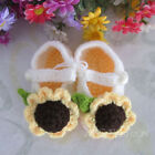 Baby Infant Girl Handmade Crochet Knit Flower Crib Shoes Accessory Prewalker