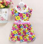baby girls summer dress 6-12-18-24 months DAISY FLORA pattern cotton clothes