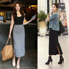 Fashion Womens Fold Over Pleated Grpsy Long Jersey High Waist Maxi Skirt S-XL