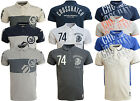Mens Polo T Shirt Crosshatch  Cotton Polo Pique Short Sleeved Casual Top Small