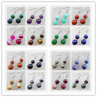 Wholesale! Fashion Gemstone Cucurbit 10mm/12mm Beads Earrings Choose Like