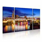 TENNESSEE Skyline At Nght Canvas Framed Print 1 ~ 3 Panels