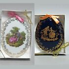 Limoges porcelain 2 Wall Plaques gift box collectable fine china from France