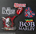 1 - Iron on Patch - Popular Music Bands - Rock - Pop - Raggae - Punk - Applique