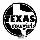 TEXAS COWGIRL vinyl sticker Locker Window Locker Car Truck 4x4 Horse Rodeo