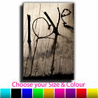Vintage Love Single Canvas Wall Art Picture Print 12