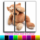 Nursery Teddy Bear Childrens Canvas Art Print Triptych Box Framed Picture 7