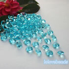 10mm 4CT Aqua Blue Acrylic Diamond Confetti Wedding Party Table Scatters