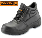 MENS WORKTOUGH LEATHER ANTISTATIC SAFETY WORK BOOTS STEEL MIDSOLE & TOE CAP SIZE