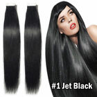 New PU Seamless Skin Tape in Remy Human Hair Extensions #01 Jet Black Any Length