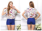 New Fashion Casual Women's Lady Chiffon Loose Printing T-shirt Top Blouse