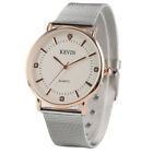 Kevin Stainless Steel Web/ Leather Band Casual Quartz Wrist Watch Men Women Gift image