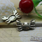 New product 10/30pcs  Lovely crab of fashion and personality charm pendant