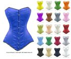 26 Double Steel Boned Waist Training Satin Long Overbust Corset #8555-BT-SA