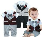 StylesILove Newborn Infant Toddler Baby Boy Tuxedo All-in-one Romper