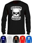 Skull T Shirt Death Before Dishonour Long Sleeves Kids Semi Gamer Goth Pirate