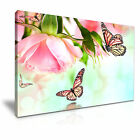 Butterfly Rose Flower Canvas Framed Print 4 ~ More Size