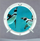 Penguin Porthole Underwater Aqua Sea Wall Art Sticker Decal Transfer Mural P4x