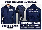 PERSONALISED Overalls Navy Blue Coverall Custom Workwear Printed Boiler Suit