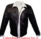 Men Designer Black Leather Jacket S-5XL Custom Made
