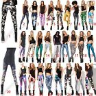Women 3D Colorful Stretch Slim Skinny Pencil Trouser Legging D