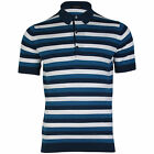 John Smedley Knots Mens Striped Polo Shirt