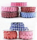 GINGHAM GARLAND HEARTS-10mm/25mm-CARD MAKING/ SCRAPBOOKING /APPLIQUE