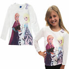 Girls Frozen Anna Elsa Top Childrens Long Sleeved 9-10 Years Olaf T Shirt