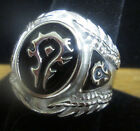 Stainless Steel World of Warcraft Inspired Horde Ring