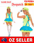 Women Super Marie Mary Costume Cosplay Fancy Dress Up Halloween Sexy Lingerie