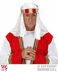 Fancy Dress Arab Headpiece Red Gold Band White Desert 3 Kings Shepherd Nativity