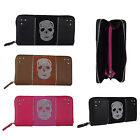 Ladies Medium HCUK Skull Design Faux Leather Purse Wallet Hold All L(133)