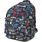 Rip Curl Double Dome Unisex Rucksack - Lettring Black One Size