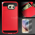 Card Pocket ShockProof Slim Hybrid Wallet Case Cover Samsung Galaxy S6 edge+Plus