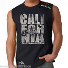California Republic Stacked State Cali Bear Los Angeles Muscle Tank T Shirt w