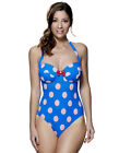 Lepel Minnie Blue and White Halterneck Swimsuit 150483